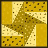 patchwork tinta ocra poster