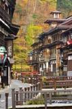 Fototapety 銀山温泉街の秋
