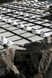 Salt piles on a saline exploration on La Palma island poster