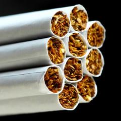 cigarettes on black