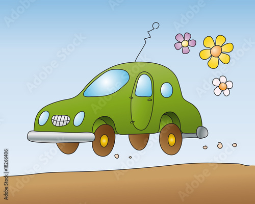 Poster Cars automobile ecologica