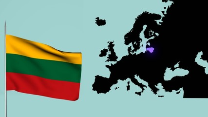 Bandiera Europea Lituania