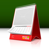 Desktop calendar. Vector. Insert your text and graphics. poster