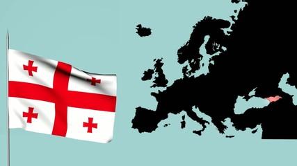 Bandiera della georgia