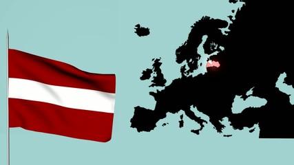 Bandiera dela Lettonia