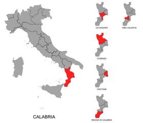 Calabria e province