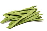 Runner Beans isolated on white