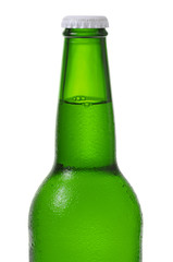 A bottle of beer isolated on white background