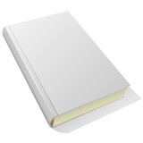 Fototapety Lying blank hardcover book isolated on white background.