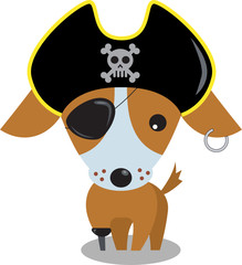 pirate cartoon dog
