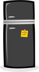 refrigerator with note