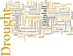 Drought word cloud