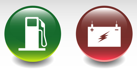 Fuel Station & Battery Sign Icons