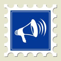Megaphone Sign Stamp