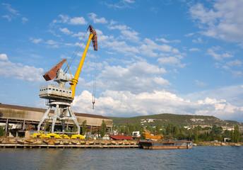 gantry crane in the harbor