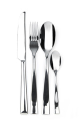 knife, fork, spoon and teaspoon