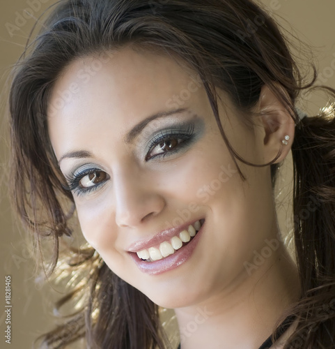 Sweet smiling beautiful young woman