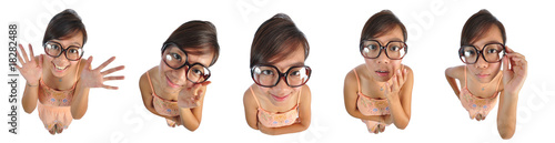 Composites of Big Doll Heads Of Asian Woman