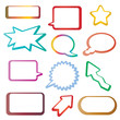tags and speech bubbles