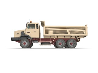 Dump truck isolated on white background