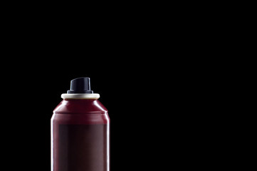 deodorant isolated on black
