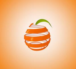 Orange aufgewickelt