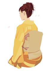 着物の女性 Japanese kimono girl