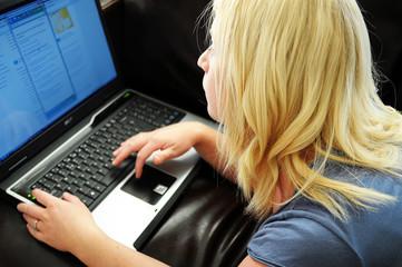 Woman browsing internet