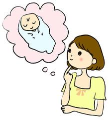 赤ちゃんを待つ女性