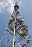 Radio telecommunications tower poster