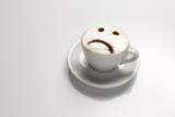 Cappuccino with sad face