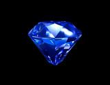 Blue Sapphire Diamond 3D poster