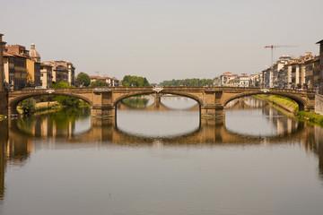 Reflected Bridge Over Arno