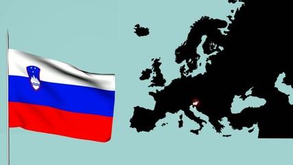 Bandiera della slovenia