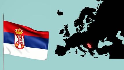 Sebia bandiera europea