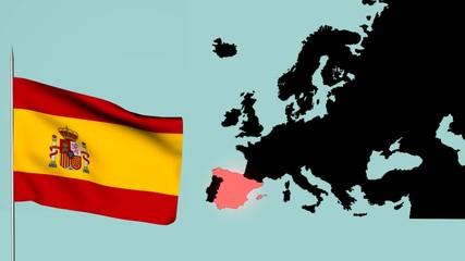 Spagna bandiera  Europea
