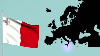 Malta Bandiera dell'europa