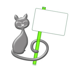 Gattino portamessaggi