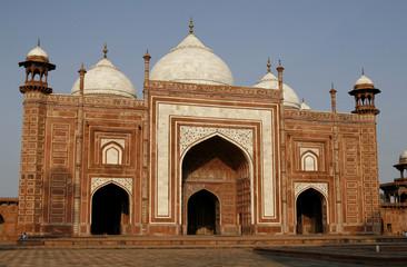 Entrance to a mosque (masjid) next to Taj Mahal, Agra, India
