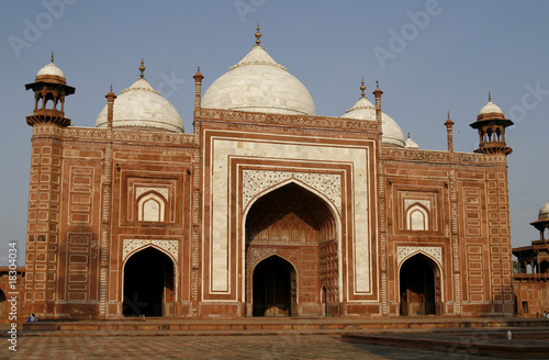 Entrance to a mosque (masjid) next to Taj Mahal, Agra, India