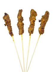 Asian cuisine - Satay isolated on white background