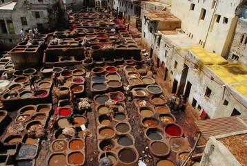 Vats in Fez, morocco
