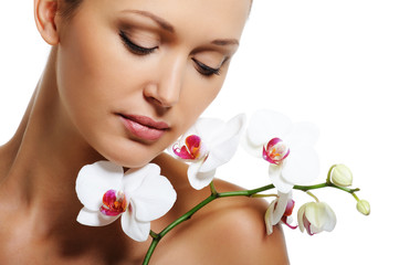 Skin treatment for beauty adult woman
