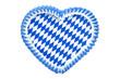 Weiss-Blaues Lebkuchenherz