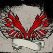 grunge wing frame