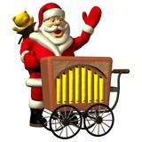 Weihnachtsmann mit Drehorgel