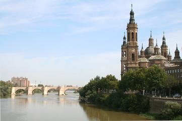 The Pilar Basilica. Zaragoza, Spain.