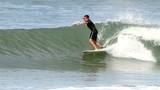 surfer en action sur une vague