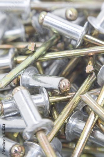 Multiple aluminium rivets