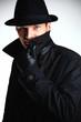 Гангстер человек в шляпе stock photography.